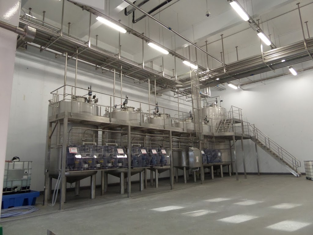Image showing tanks, gantry and pipework installed at Arla Foods Dairy in Aylesbury.