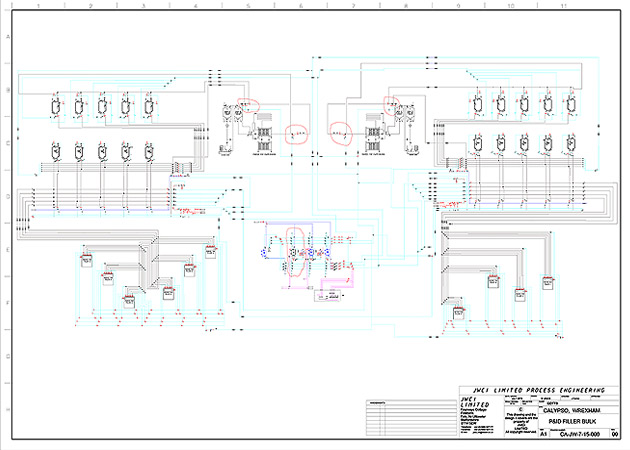 Process Plant Installation CAD Drawing